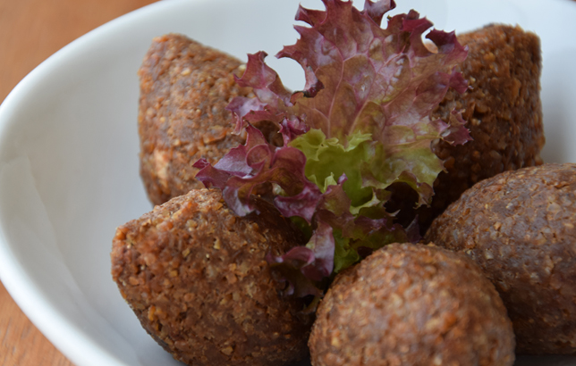 Image of traditional fried meat balls from Clay's Lebanese Mezza menu