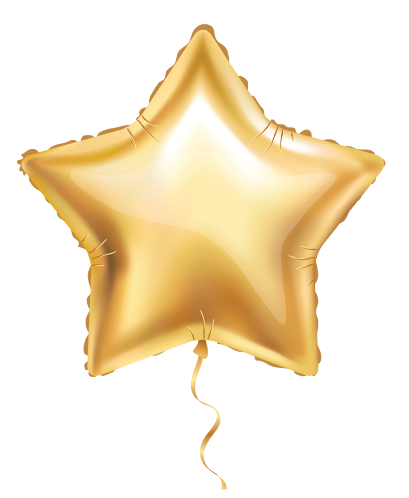Image of golden star balloon